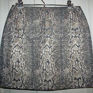 Gianni Bini Snake Print Pencil Skirt